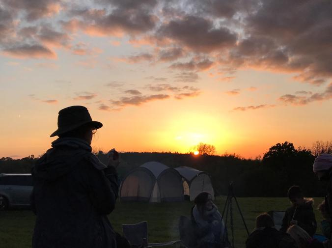 Sunset at Britchcombe Farm Campsite